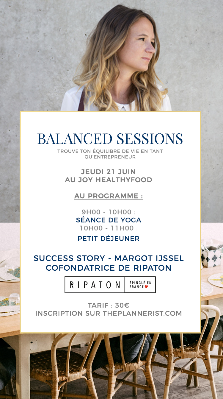 ATELIER : BALANCED SESSIONS – 21 JUIN 2018